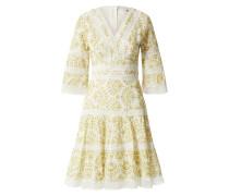 Kleid naturweiß / gelb