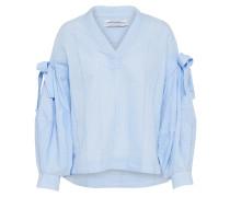 V-Neck Bluse hellblau