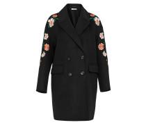 Bestickter Mantel mischfarben / schwarz