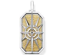 Kettenanhänger 'Kompass Stern gold'