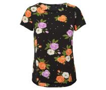 Shirt lila / orange / schwarz / weiß