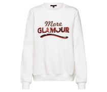 Sweatshirt 'more Glamour Sweatshirt' weiß
