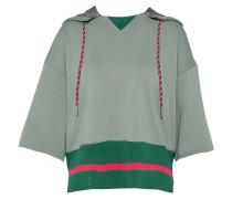 Sweatshirt mit Kapuze pastellgrün / rot