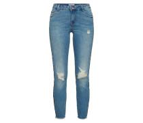 Jeans 'Carmen' blue denim / dunkelblau / rot