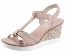 Sandalette gold / altrosa / weiß