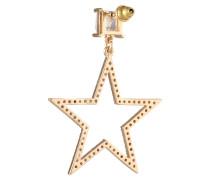 Ohrstecker 'Crystal Open Star Drop' gold
