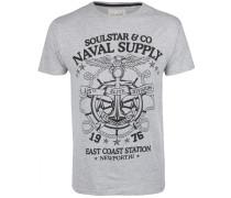 T-Shirt grau / schwarz