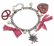 Armband pink / rot / silber