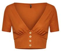 Blusenshirt 'jany' rostbraun / orange