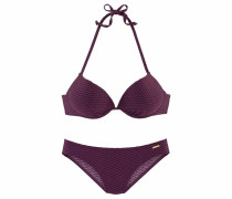 Push-up-Bikini bordeaux