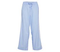 Pyjamahose 'lace' blau / weiß