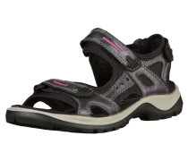 Sandale grau / anthrazit / lila