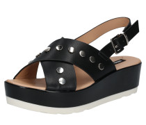 Sandale mit Plateausohle schwarz