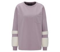 Sweatshirt altrosa / weiß