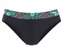 Bikini-Hose 'Flori' mint / schwarz / weiß
