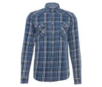 Hemd im Karo-Look blau / weiß