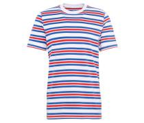 T-Shirt 'bold Stripe Tee' blau / rot / weiß