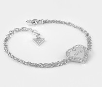 Armband 'Heart Warming' silber / transparent