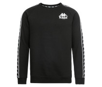 Sweatshirt 'authentic Hassan' schwarz / weiß