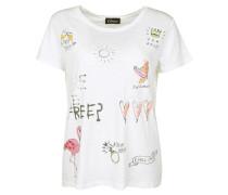 T-Shirt rosa / schwarz / offwhite
