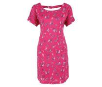 Blusenkleid mit Rückenausschnitt marine / pink / weiß
