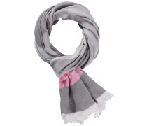Schal grau / taupe / rosa / weiß