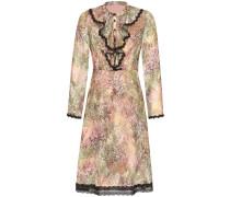 Kleid oliv / mischfarben / schwarz