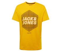 Shirt 'dustin' gelb / weiß