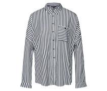Bluse 'deconstr Stripe' schwarz / weiß
