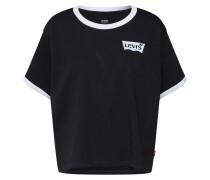 T-Shirt 'graphic Ringer J.v' schwarz