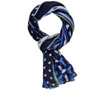 Schal kobaltblau / mischfarben