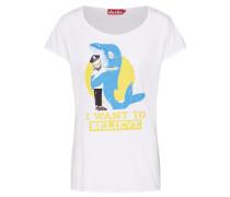 Shirt 'Whale Love Girls ' weiß