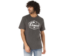 Slab T-Shirt dunkelgrau / weiß