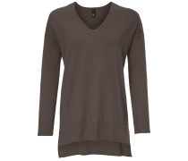 V-Pullover taupe