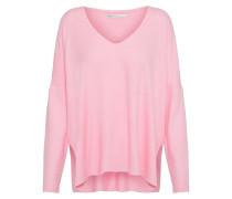 Pullover 'maye V-Neck' pink / weiß