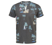 T-Shirt basaltgrau / mischfarben