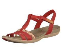 Sandalen 'Tealite grace' rot / perlweiß