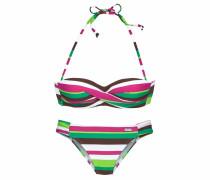 Bikini grün / pink