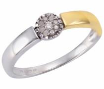 Diamantring gold / silber / weiß