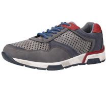 Sneaker navy / grau / dunkelgrau / rot