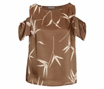 Druckbluse mit Cut-Outs