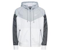 Jacke grau / weiß