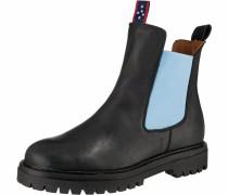 Chelsea Boots hellblau / schwarz