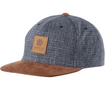 'camp II' Cap blue denim / rostbraun