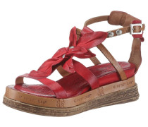 Sandalette braun / rot