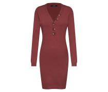 Strickkleid 'vmchip Karis LS V-Neck Button Dress Boo'