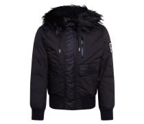Jacke 'w-Burkisk Jacket' schwarz