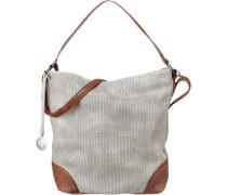 Handtasche rostbraun / grau