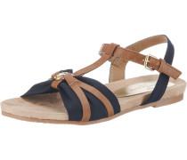 Sandale blau / braun