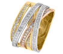 Ring '60074992' gold / rosegold / weiß